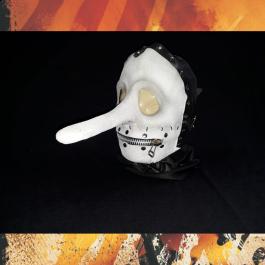 Máscara Chris Fehn Opaca Branca Slipknot Vol. 3: (The Subliminal Verses)