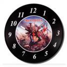 Relógio Iron Maiden Vinil