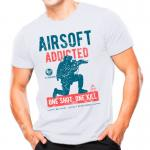 Camiseta Atack Airsoft One Shot Branca